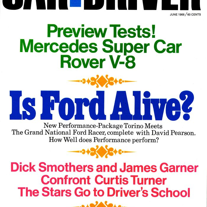 Layout and typography for <em>Car and Driver</em> cover