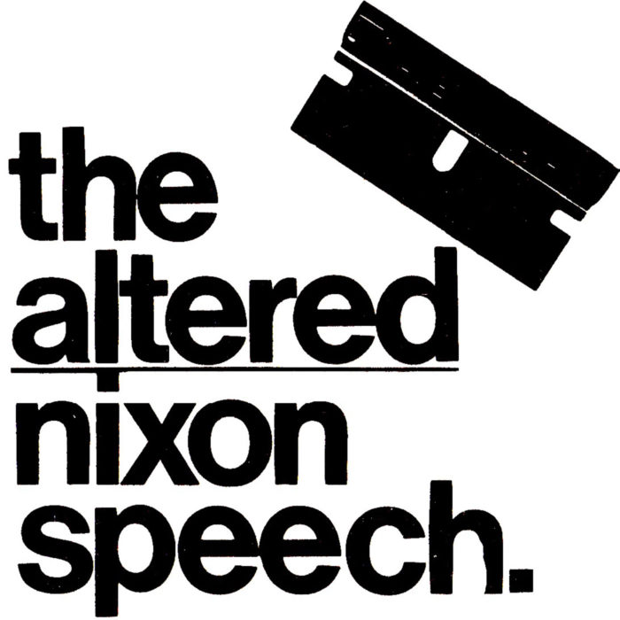 An ad a cut above the rest for The Altered Nixon Speech