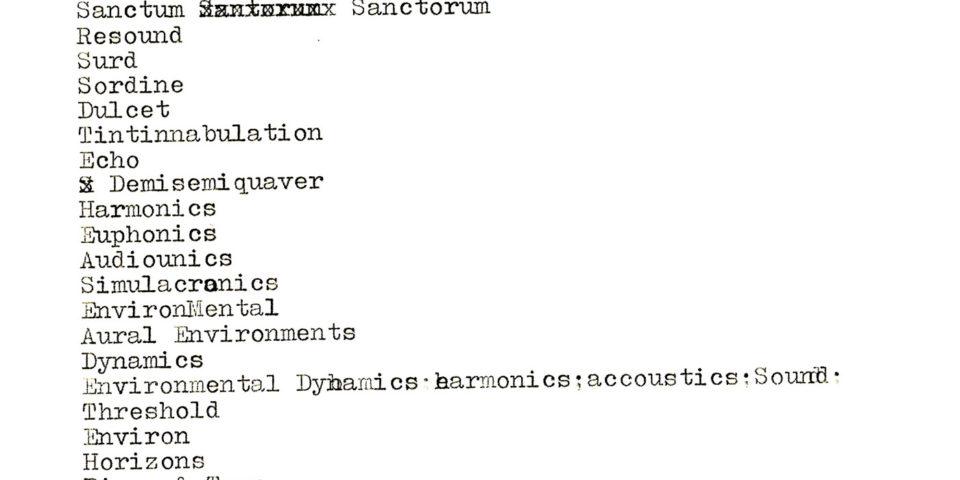 Irv Teibel early Syntonic name ideas