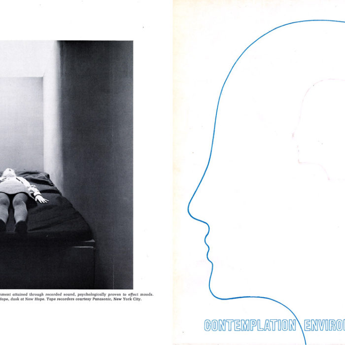 Exhibit catalog showing Irv's 1970 <em>Environments</em> installation at The Museum of Contemporary Crafts