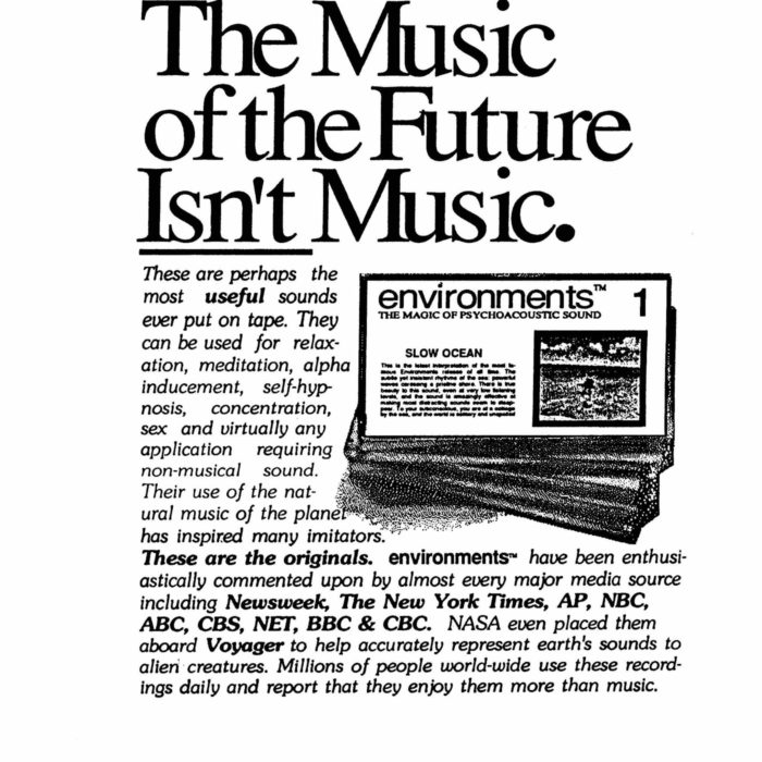 catalog ad from the 1980s - 'The music of the future isn't music.'