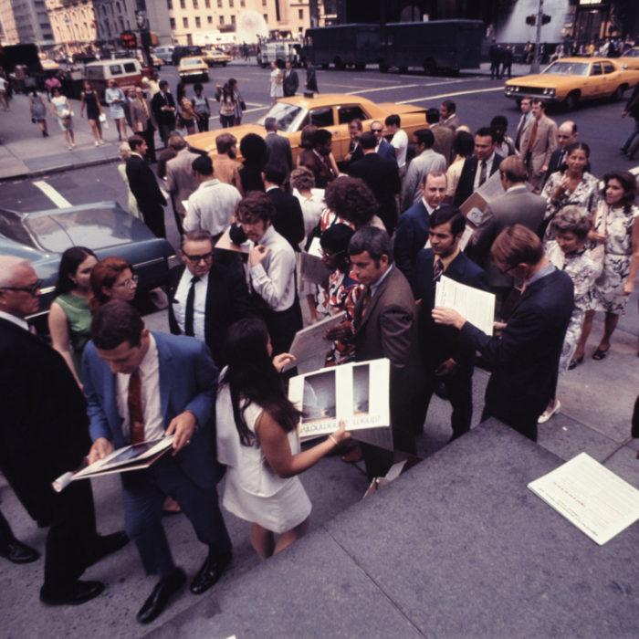 Guerilla marketing in New York for original LP release