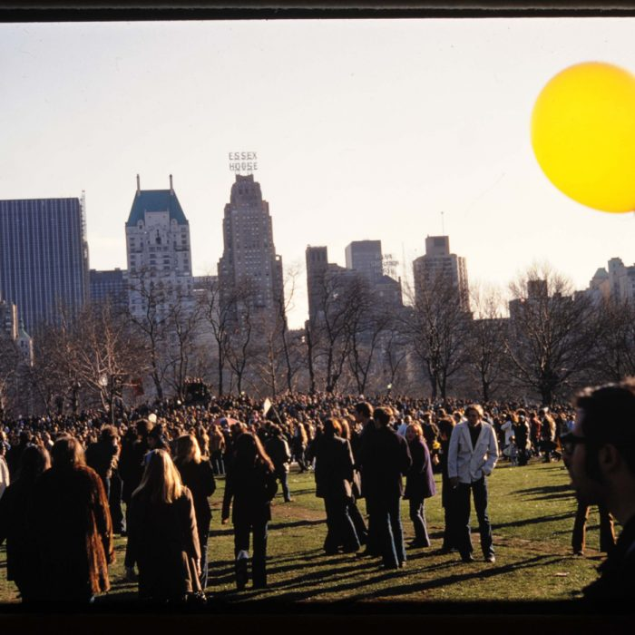 Be-In in Central Park from April, 1969
