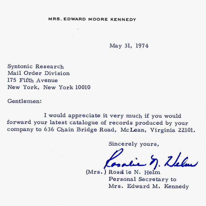 Senator Ted Kennedy's Nixon Tape order